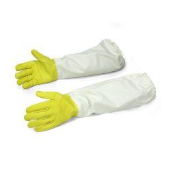 Rękawice pszczelarskie gumowane