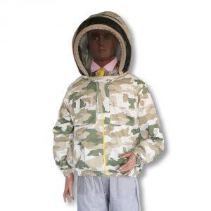 Bluza pszczelarska rozpinana z kapeluszem kosmonauta moro - Socha