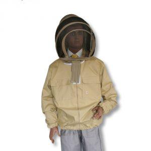 Bluza pszczelarska rozpinana z kapeluszem kosmonauta - XL - Socha
