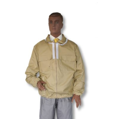 Bluza pszczelarska rozpinana z kapeluszem kosmonauta - XXL - Socha