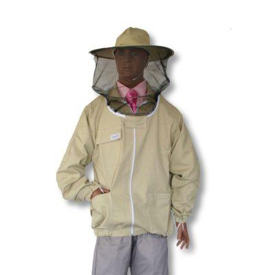 Bluza pszczelarska rozpinana z kapeluszem L - Adamek