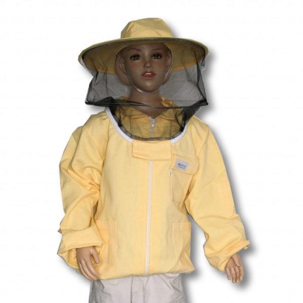 Bluza pszczelarska dziecięca rozpinana z kapeluszem - Adamek