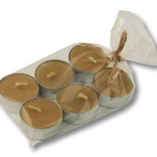 Podgrzewacze tealight w z wosku pszczelego