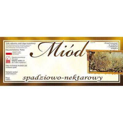 Etykiety na miód spadziowo-nektarowy