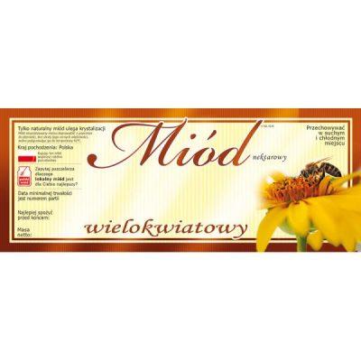 Etykiety na miód wielokwiatowy