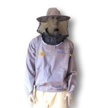 Bluza pszczelarska zapinana na suwak z kapeluszem - bawełna + poliester