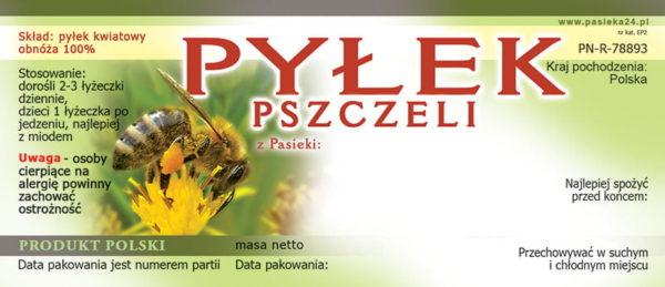 Etykiety - pyłek pszczeli