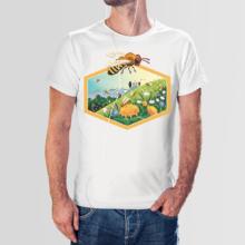 Koszulka męska t-shirt mniszek
