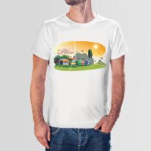 Koszulka męska t-shirt pasieka