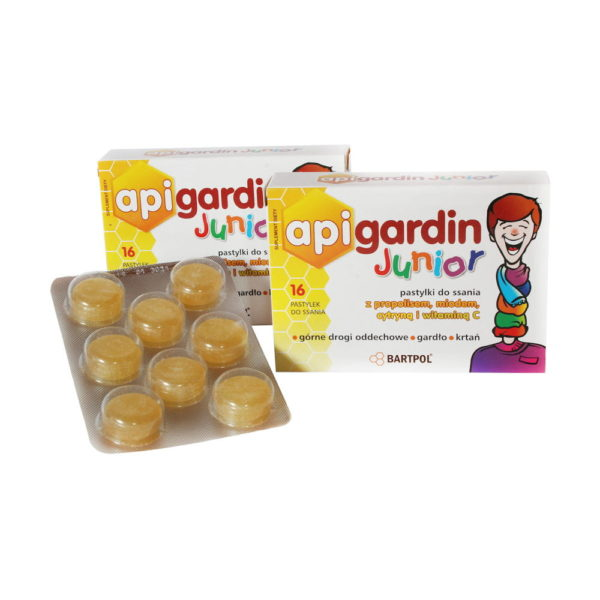 API GARDIN JUNIOR, propolis, miód, cytryna